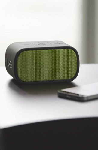 The Mini Boom Bluetooth Speaker by Ultimate Ears is a great portable audio solution that can be used at home or while you're out and about.