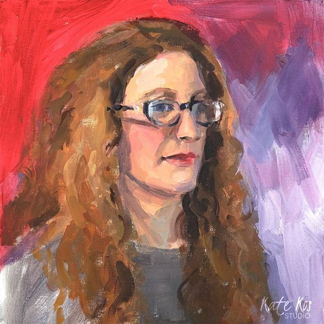 Portrait of Anne from last week's Portrait Session in Castlebridge Art Studio. Painting #glasses with light #reflections prove to be more difficult then getting the likeness. Sometimes it's hard to convince your brain to paint what you really see, when it wants to paint what it knows it's there. Sounds familiar? :)