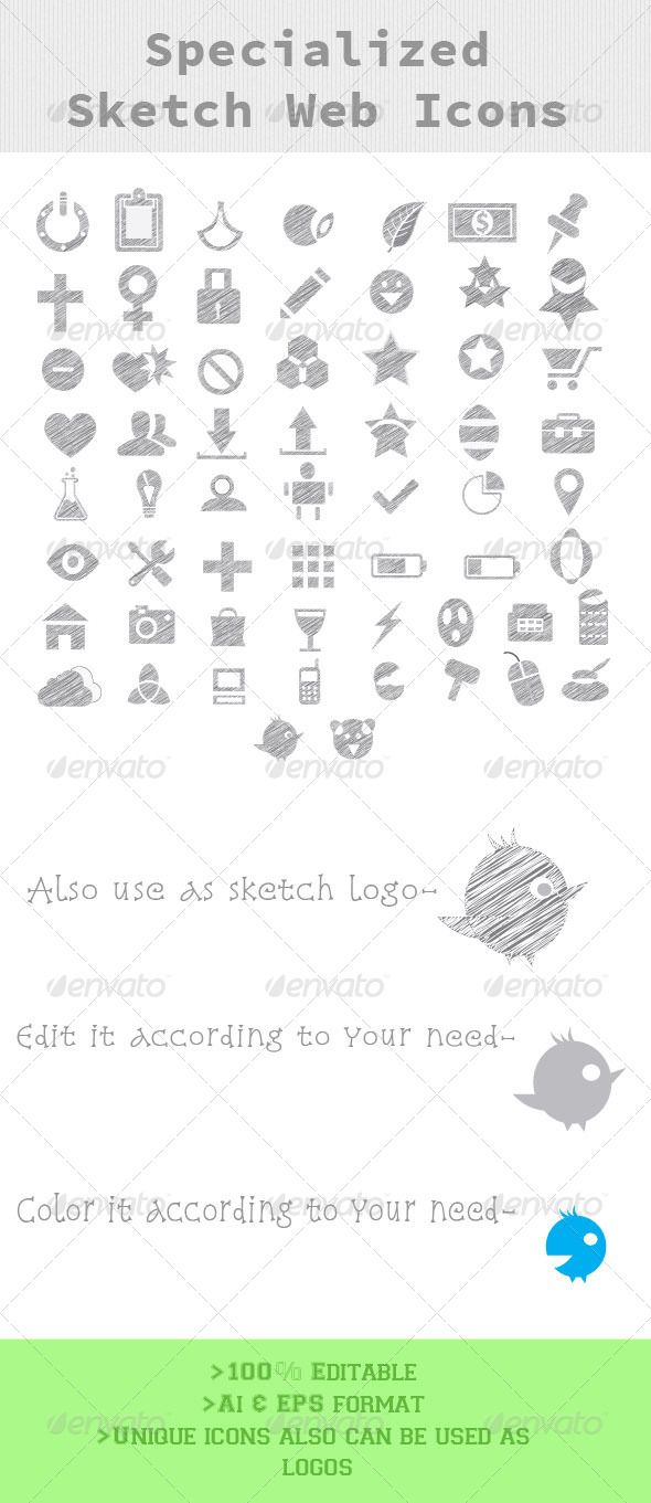 Specialized Sketch Web Icons  #GraphicRiver         >Ai file included >100% Editable >Use as web icons or logos >Vary exclusive icons     Created: 23October13 GraphicsFilesIncluded: AIIllustrator HighResolution: No Layered: No MinimumAdobeCSVersion: CS Tags: Specialized #icons #sketch #web