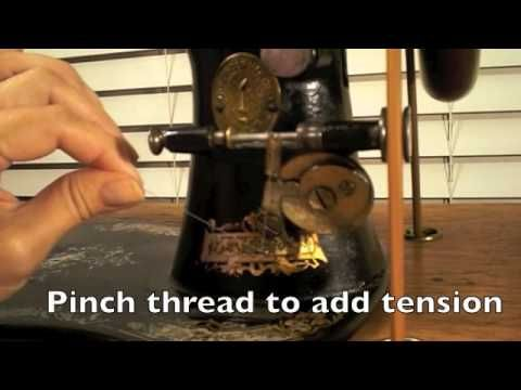 Wind a Long Bobbin on a Treadle Sewing Machine - video-Just in case I have forgotten