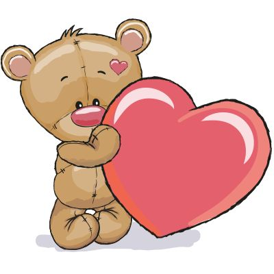 Teddy Bear and Heart - Facebook Symbols and Chat Emoticons