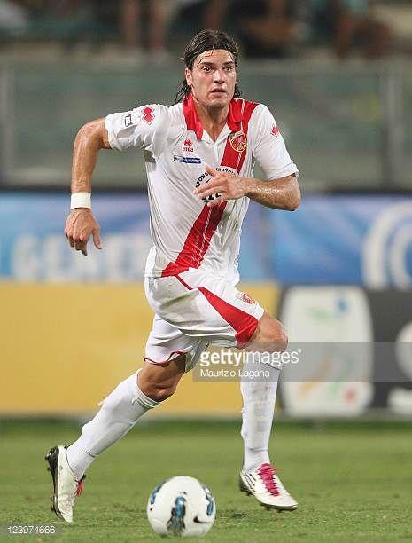 Federico Gerardi of Grosseto runs with the ball during the Serie B match between Reggina Calcio and US Grosseto FC at Stadio Oreste Granillo on...