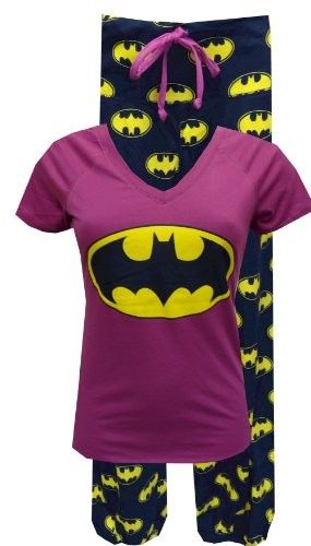 Batgirl Pajamas -- for teens and adults. These are very similar to the ones I'm wearing right now, except mine are more unisex and I got them at Goodwill, lol. I really like these ones...