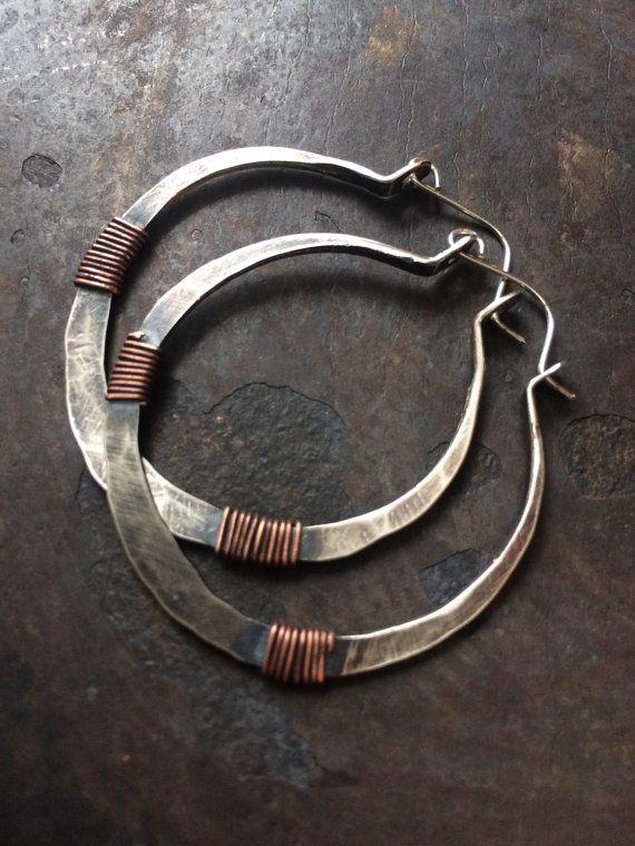 Sterling Silver Hoop Earrings Silver Hoops by daniellerosebean