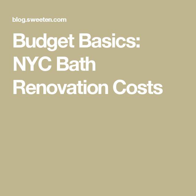 Bathroom Renovation Nyc Cost the 25+ best bathroom renovation cost ideas on pinterest | small