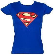 Superman-Camiseta de mujer Classic Logo DC Comics Girlie camiseta tamaño L Super Girl #camiseta #starwars #marvel #gift