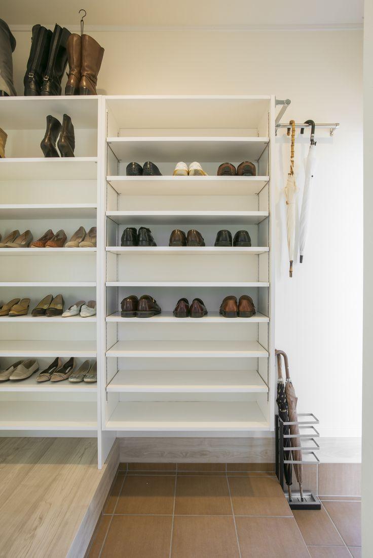 シーズン別靴収納  #シューズクローク #玄関 #収納