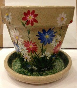 Hand Painted Flower Pots | Amazon.com: Hand Painted Flower Pot: Everything Else
