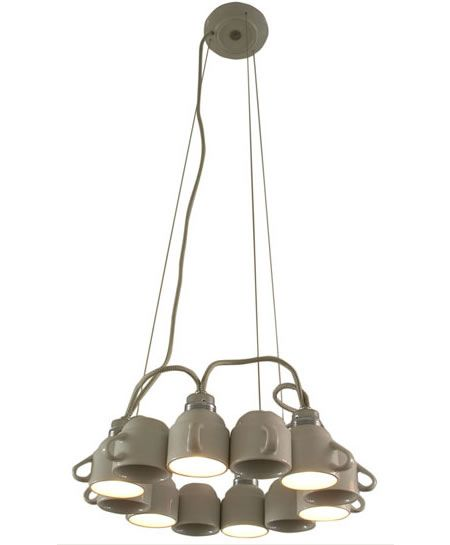 coffee cup chandelier - Google Search