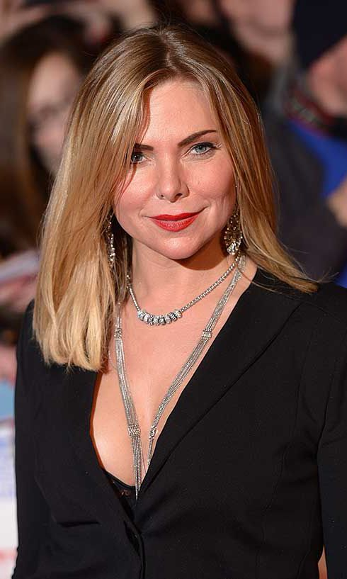 Samantha Womack (Janus) wears a long necklace to the 2014 National TV Awards