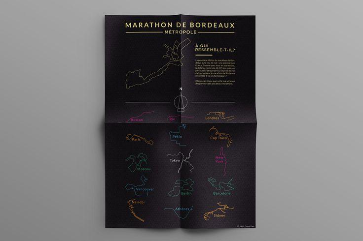 La première édition du #Marathon de #Bordeaux #Metropole aura lieu de #nuit : une première en #France. Comme pour tous les marathons, la distance restera de 42,195 km, mais son #parcours lui sera propre. D'un point de vue #cartographique, le marathon de Bordeaux ressemble-t-il à ses homologues ? #infographic #data #datavizualisation #paris