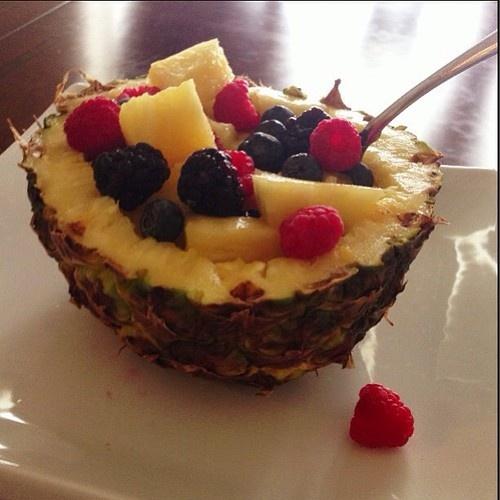 Pineapple fruit bowl | Weight loss stuff | Pinterest