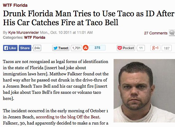 Drunk Florida man. | 38 Individuals Who Took Fail To A Whole New Level