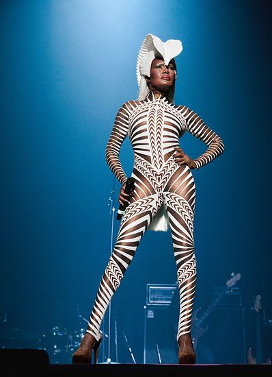 Grace Jones on tour, 2010.  Photo: Billy Jim