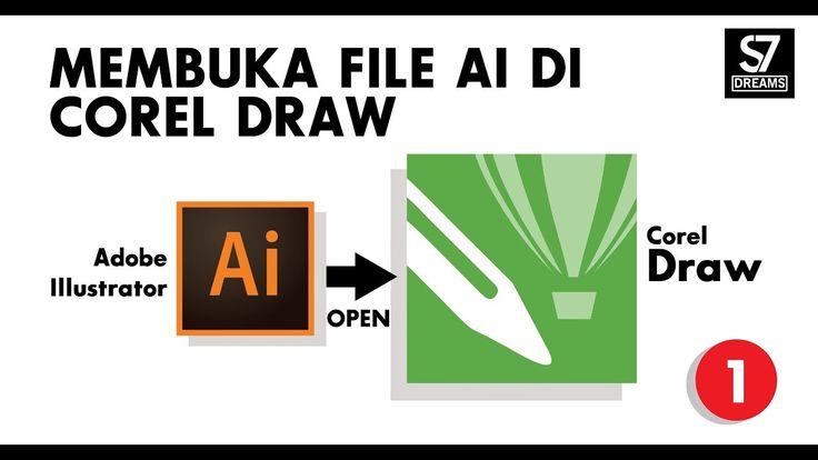Cara membuka file AI di corel draw