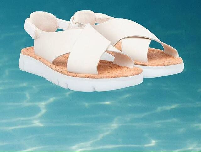 Surface Area SS16 sandals are all about wide, smooth straps #campershoes #siderflamingobag2016 #sidershopping #sidergoestothetropicsbag