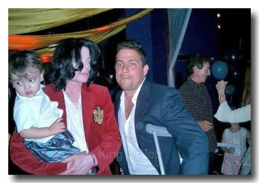 Michael Jackson with his son Blanket (age 1), July 28 2003.