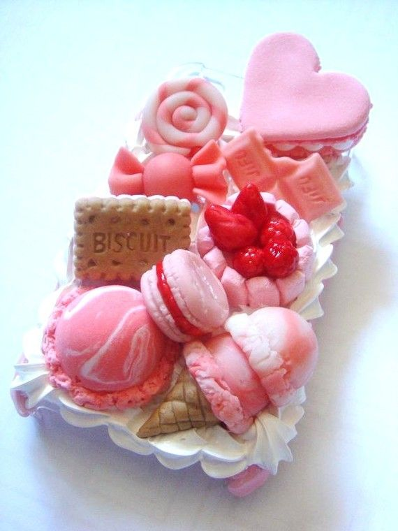 This is an iPhone cover!: Decoden Phones, Iphone Cases, Colors Candy, Pink Sweet, Pink High Teas, Phones Cases, Beautiful Pink, Sweet Peas, Sweet Traditional
