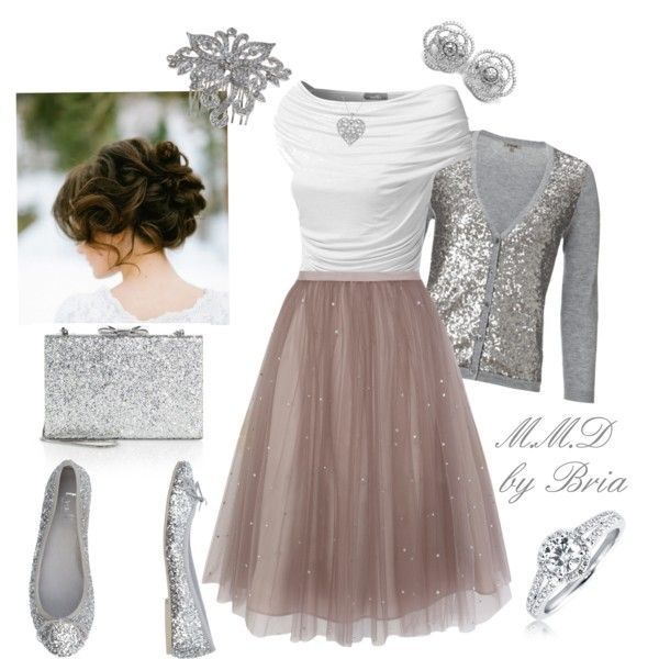 Tulle Skirt with glitter cardigan- fun for a very sparkly evening out!