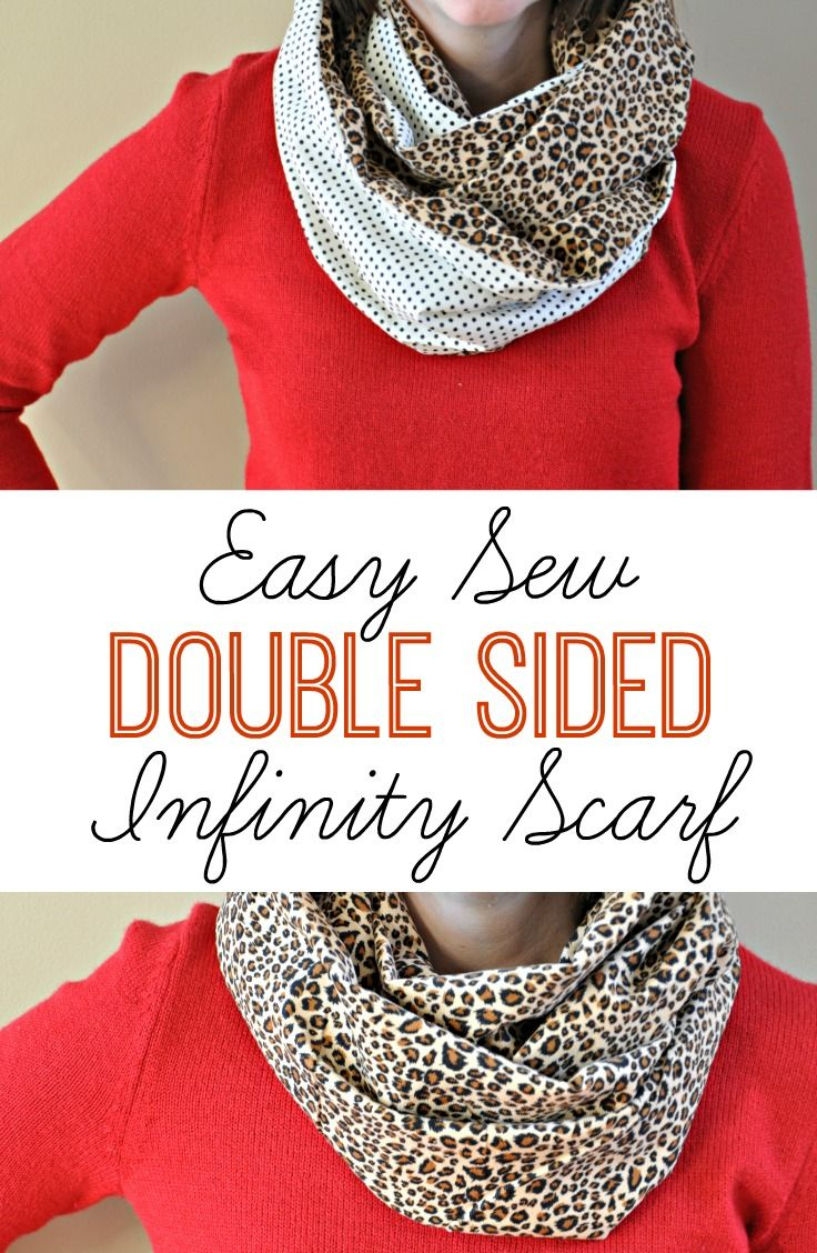 Easy Sew Double Sided Infinity Scarf | www.decorandthedog.net | #scarf #infinityscarf #sewingproject