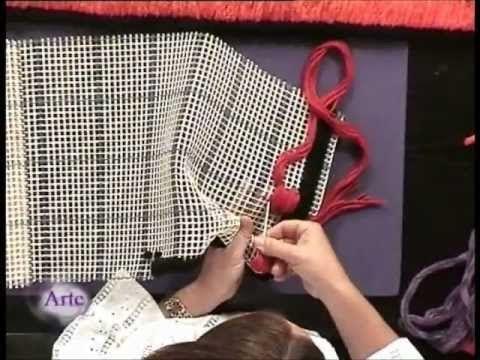 Cómo usar hilados en el diseño de tapices - YouTube