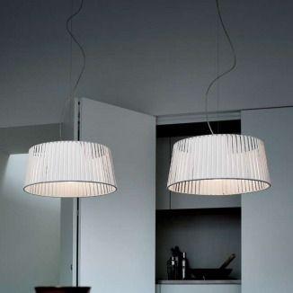Spectacular Serie lampen in gesatineerd nikkel met een melk wit gesatineerde geblazen glas diffuser lampenkap