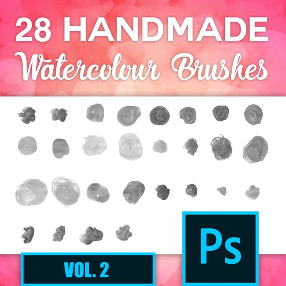 Photoshop Watercolour Brush Set 2 Artistic Brushes Watercolor