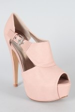 Qupid Penelope-46 Peep Toe Bootie. If only because they would make me 15 feet tall