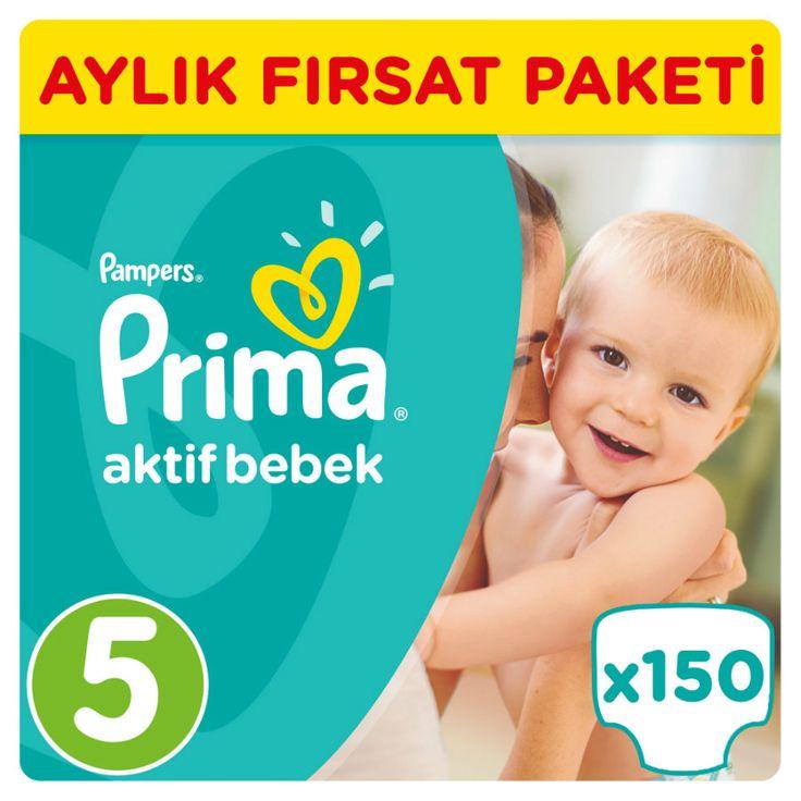 Prima Aktif Bebek Bezi 5 Beden Fırsat Paketi 150 Adet