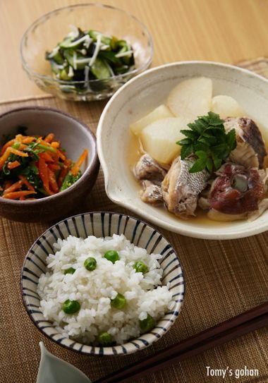 Japanese food / 鯛と豆ごはん