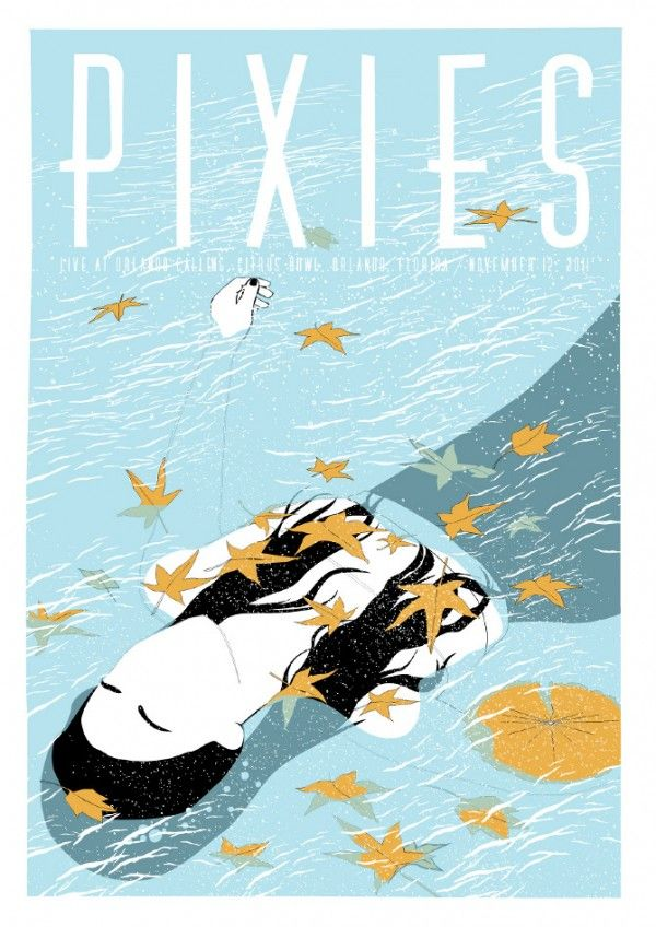Gig poster for The Pixies by Horse #WOWmusic