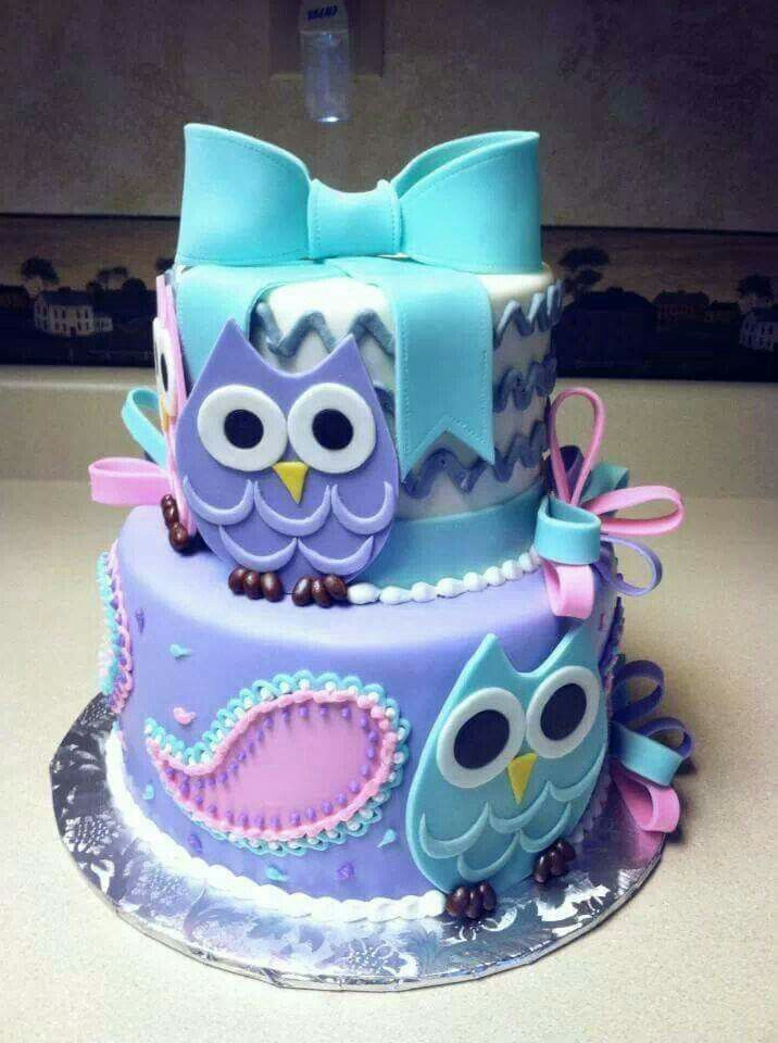 The 25 best Owl birthday cakes ideas on Pinterest Owl cakes