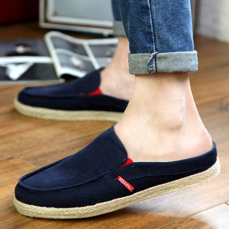 Mens Heelless Slip On Shoes