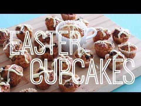 Easter Hot Cross Bun Cupcakes