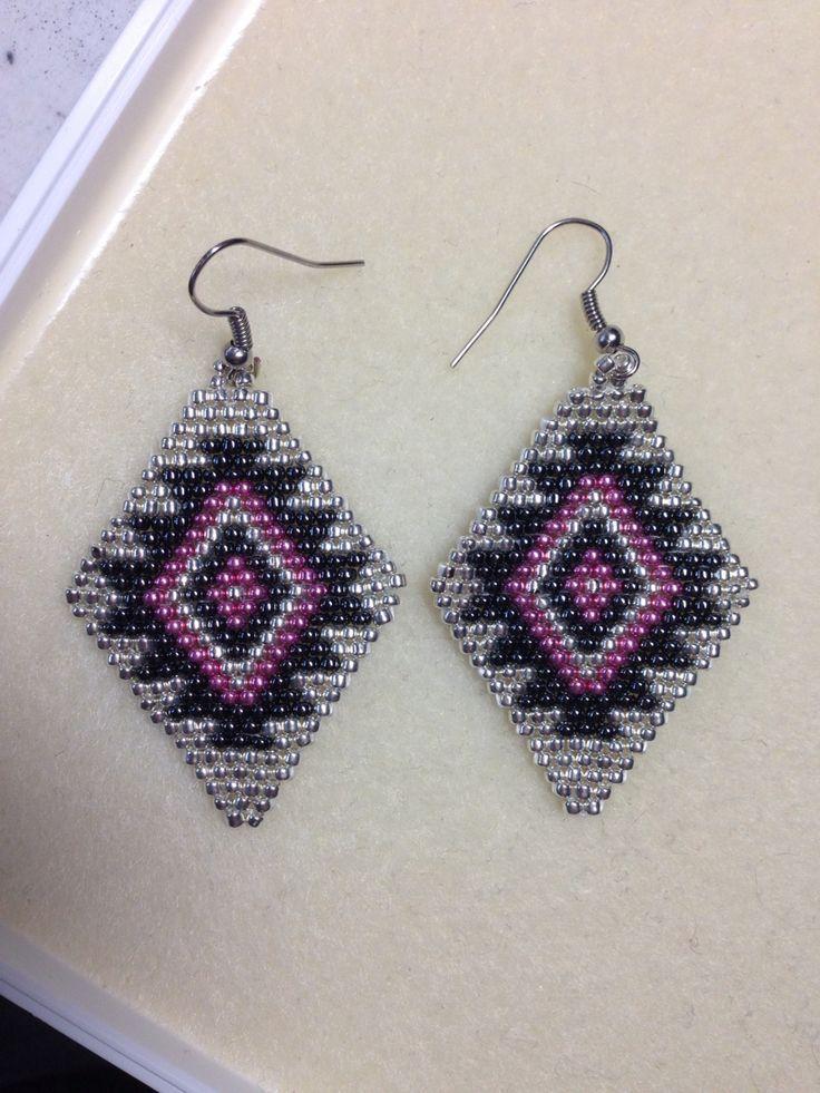Native American Beaded Earrings Weaving Patterns