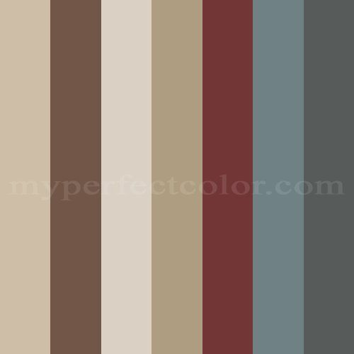 2012 home colors Scheme Created By Lnuss  Crystal - the one next to the red/burgandy is nice...