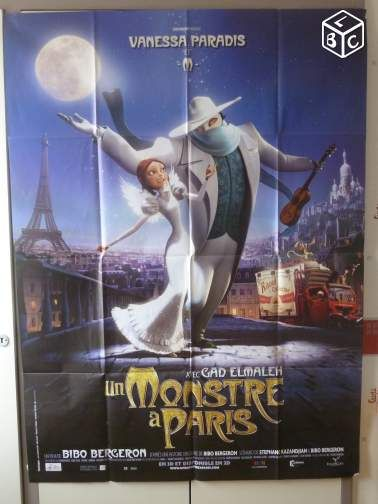 Affiche de cinéma : UN MONSTRE A PARIS #chrisdeparis 18€