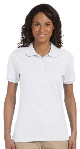 Jerzees 437W Ladies 5.6 oz. 50/50 Jersey Polo with SpotShield - White - L Jerzees http://www.amazon.com/dp/B0032G3Q3M/ref=cm_sw_r_pi_dp_is4Jub0DDBKPX