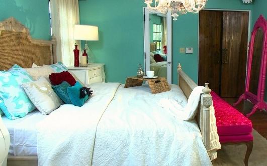 Purple and teal bedroom designs