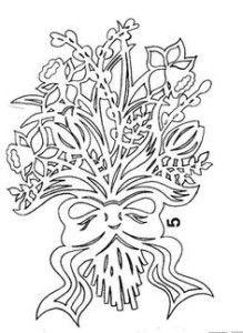 вытынанка к 8 марта шаблоны схемы трафареты цветы.8