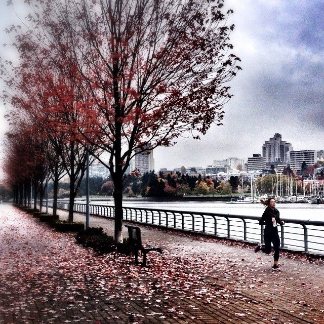 Running through Fall #vancouver iphoneography NikNaz K.