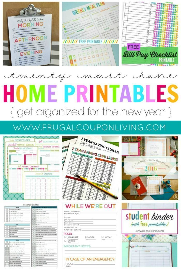 20 Must Have Home Printables For The New Year Homeorganization Organization Printables Free Free Printables Organization Organization Printables Printables