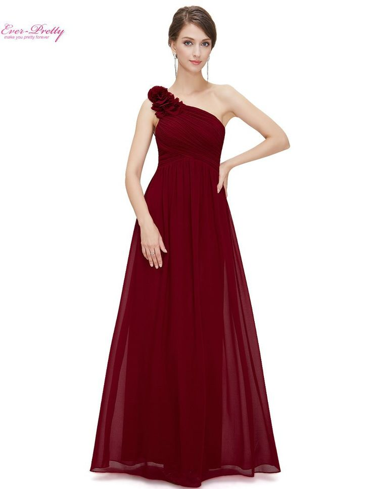 Bridesmaid Dresses Ever Pretty EP08237 One Shoulder Floral Padded Wedding Party Pregnant Dress Cheap Bridesmaid Dresses Under 50