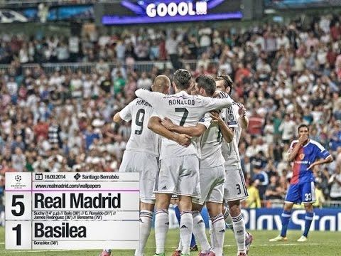 REAL MADRID VS FC BASEL 2014 5-1 → FULL HIGHLIGHTS & ALL GOALS ( CHAMPIO...