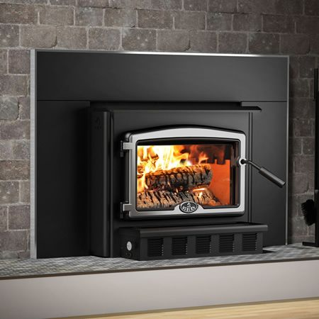 7108 best images about ideas for the house on pinterest for Wood stove insert for prefab fireplace