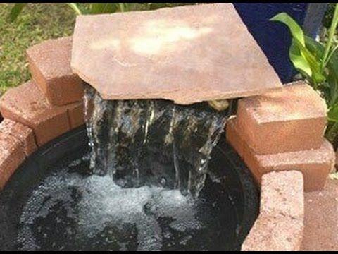 Die besten 25+ Springbrunnen selber bauen Ideen auf Pinterest - teich wasserfall modern selber bauen