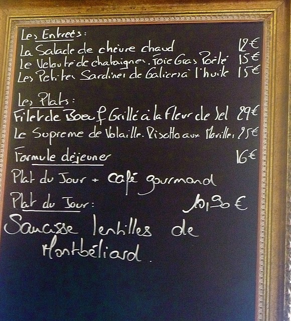how to make a french menu