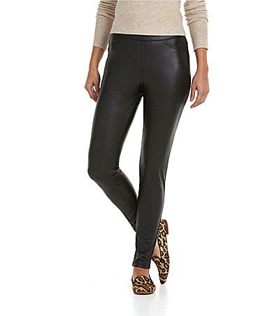 755771603a560 HUE Leatherette Leggings #Dillards