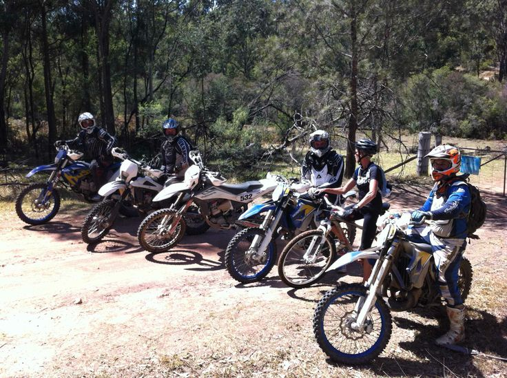 """100km MTB ride at Wollombi in 34 degree heat. Met some """"other"""" bikers. I was the only one without gears...and engine. :)"""