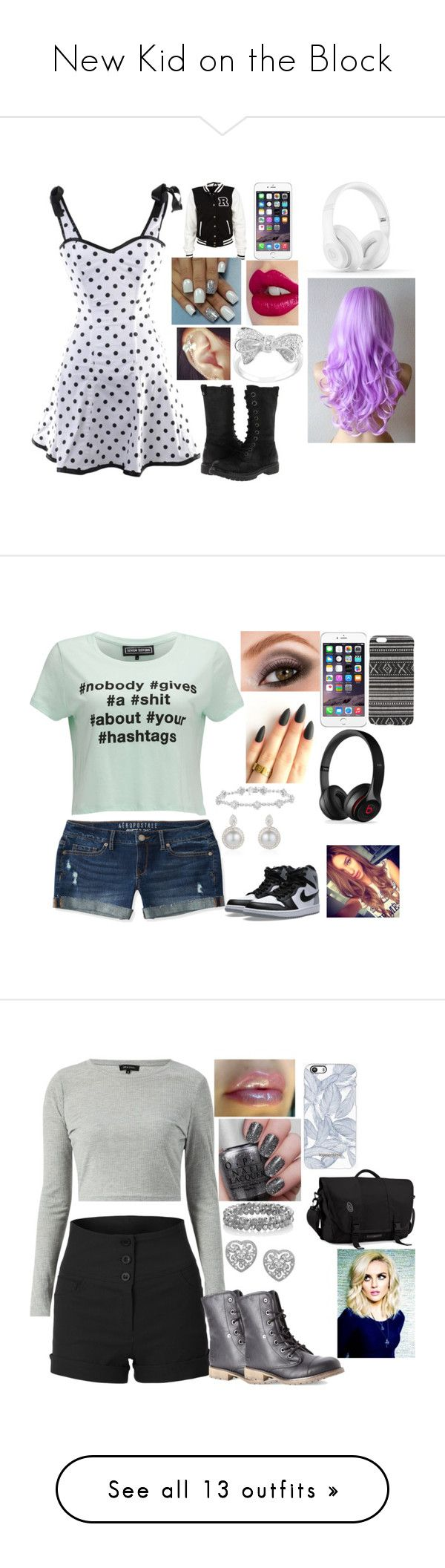 """""""New Kid on the Block"""" by kiara-fleming ❤ liked on Polyvore featuring BC Footwear, Charlotte Tilbury, Beats by Dr. Dre, Aéropostale, NIKE, Avon, With Love From CA, Black Apple, Dirty Laundry and The Limited"""